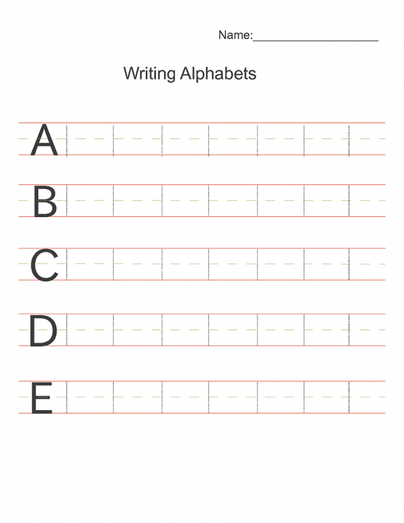 abc writing worksheets to print learning printable. Black Bedroom Furniture Sets. Home Design Ideas