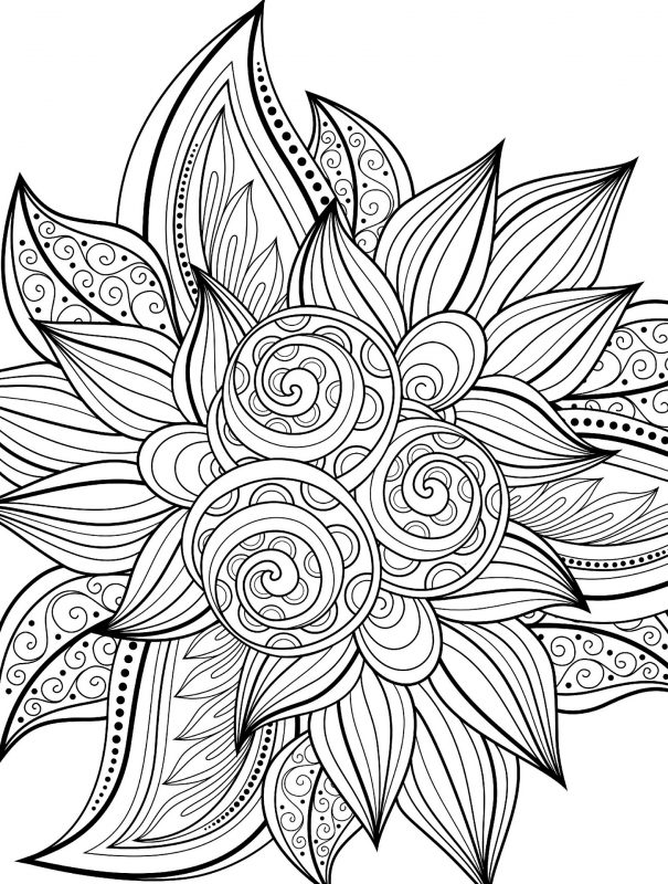 Free Adult Coloring Pages Printable PDF | Learning Printable