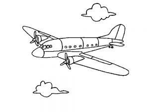 airplane colouring activity