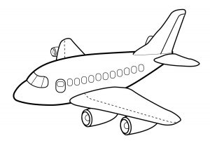 airplane colouring page