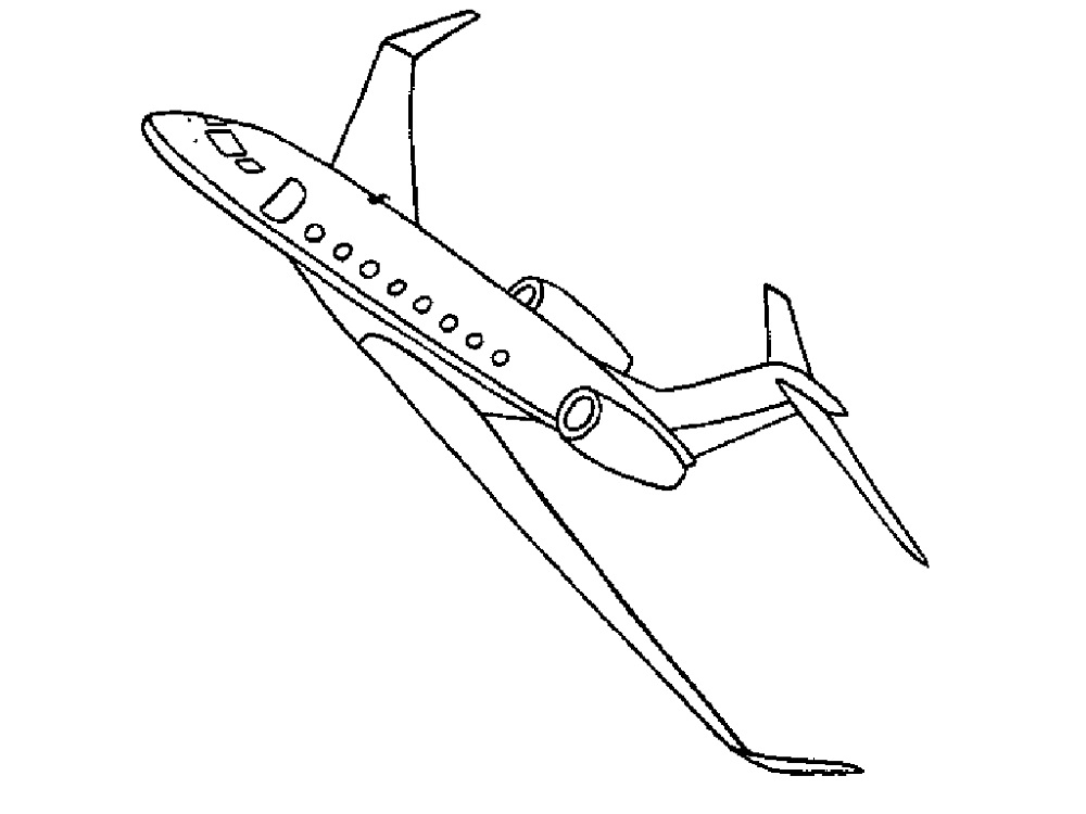 airplane colouring printable