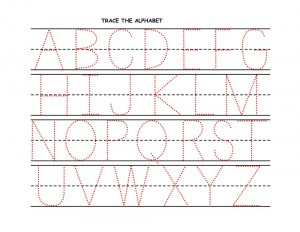 alphabet for kids to trace capital