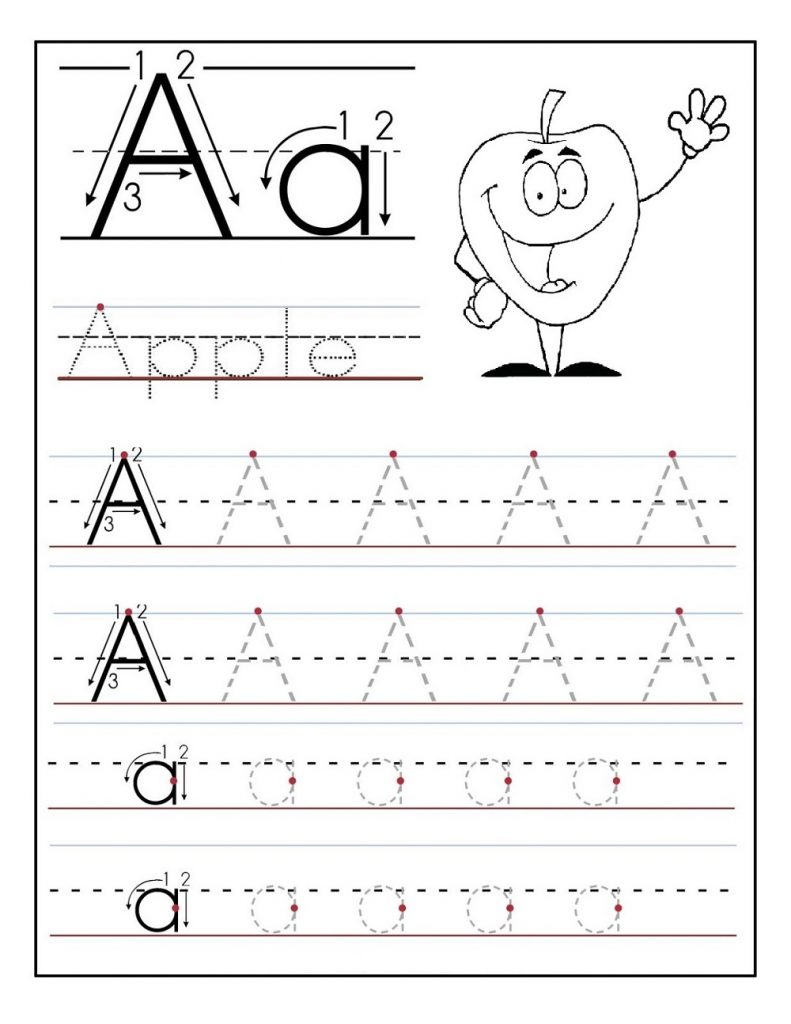 alphabet for kids to trace letter A