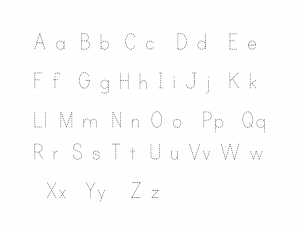 alphabet for kids to trace printable