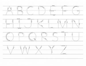 alphabet for kids to trace uppercase