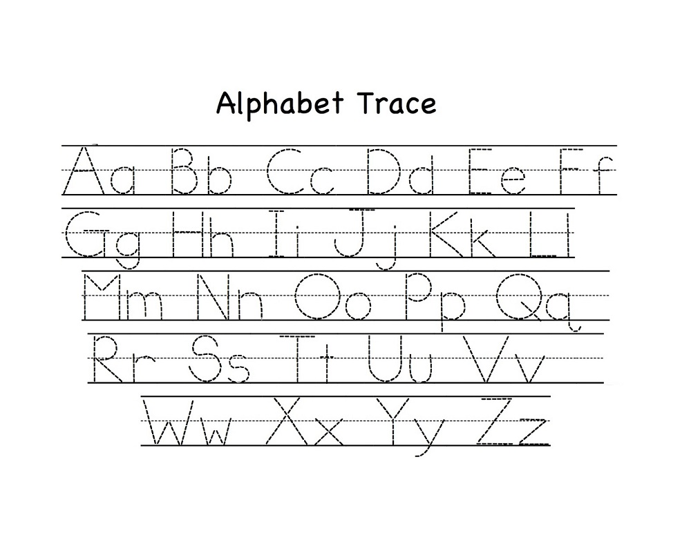 alphabet for kids to trace worksheet