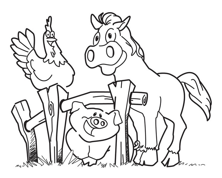 animal coloring pages free