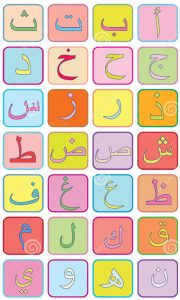 arabic letters for children poster
