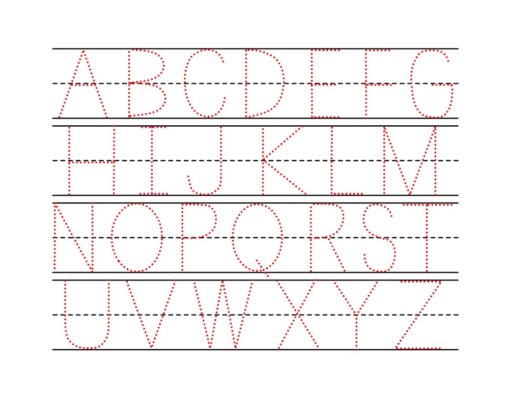 capital letter trace pages fun