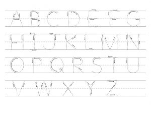 capital letter trace pages printable