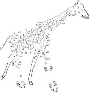 connect the dots animal giraffe