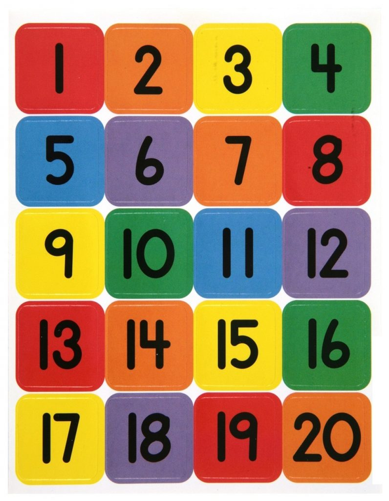 count to 20 printable colorful