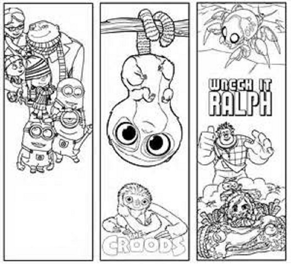 cute bookmarks to color page
