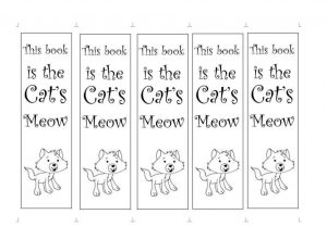 cute bookmarks to color printable