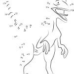 dinosaur raptor dot to dot pictures activity