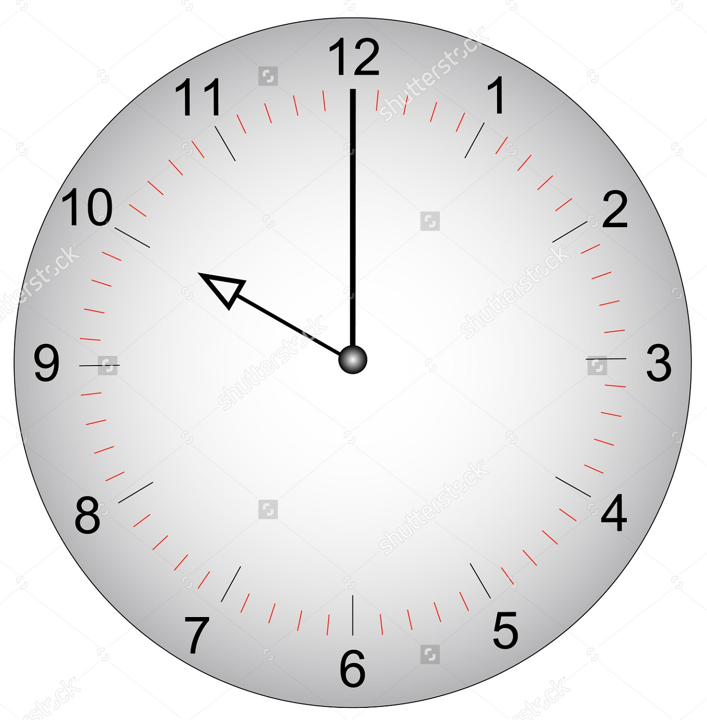 face of a clock with minutes marked