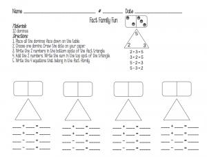 fact family worksheets free fun