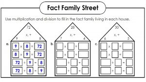 family of facts worksheets fun