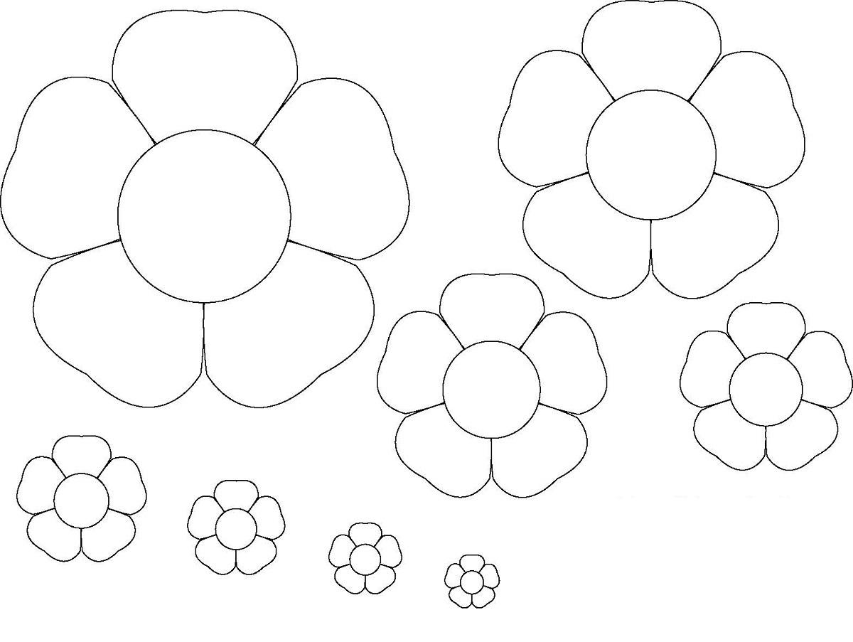 flower template print crafts