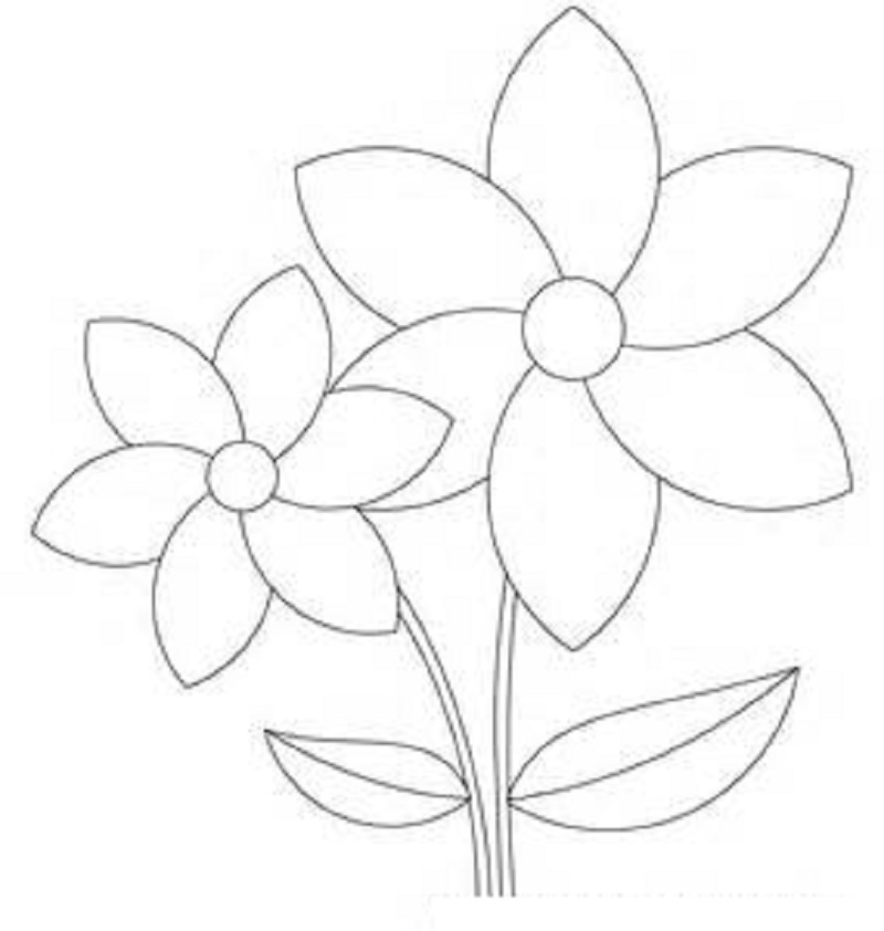flower template print free