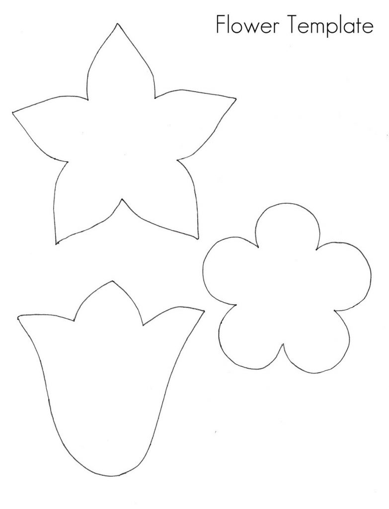 flower template print image