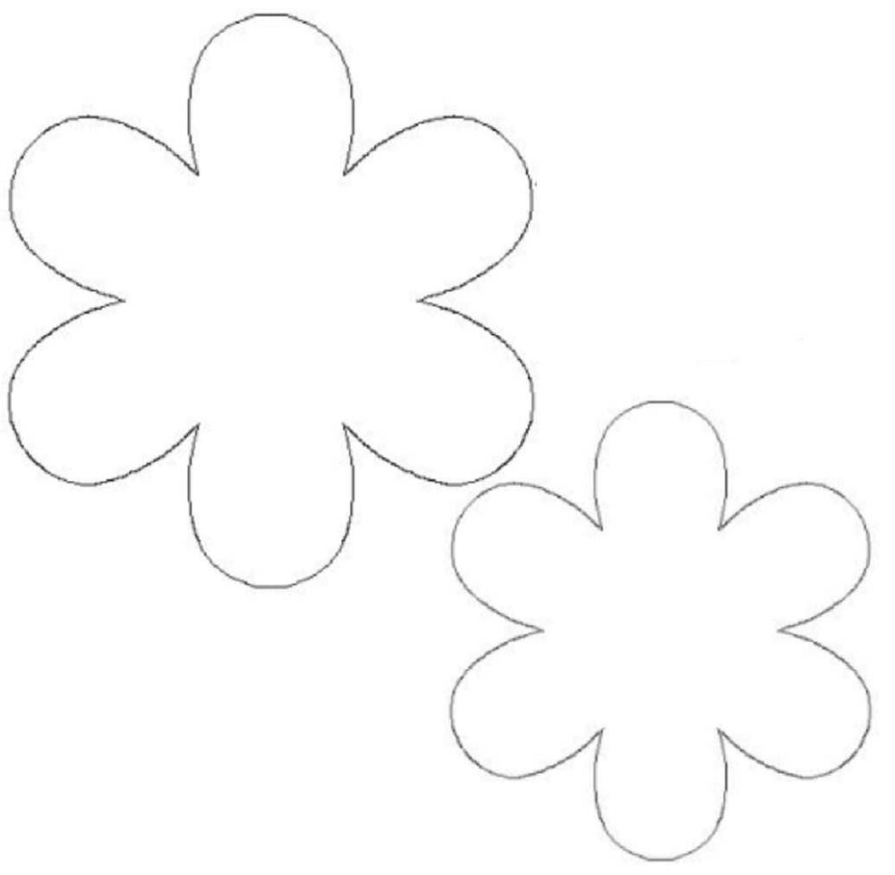 flower template print simple