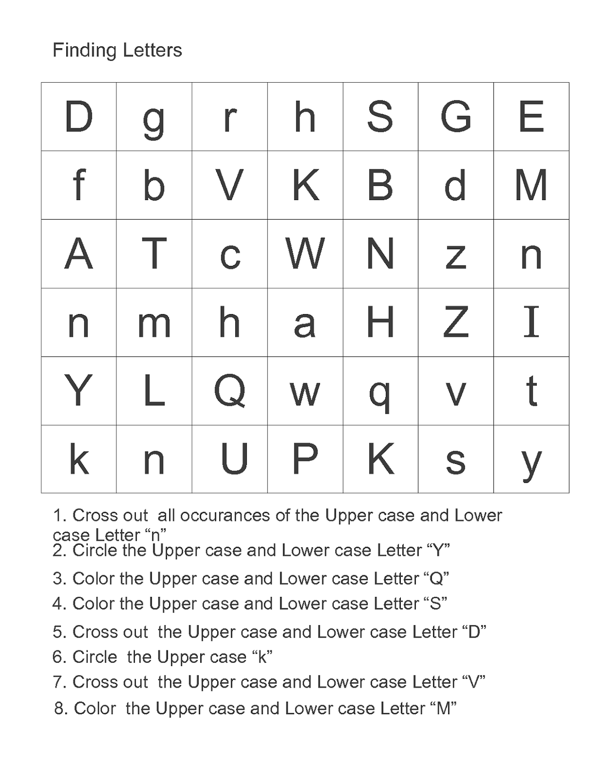 free alphabet worksheets page