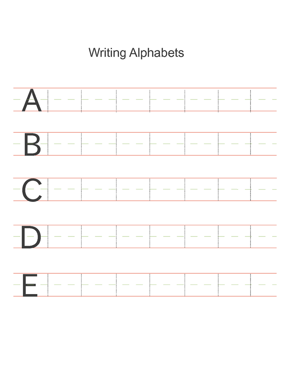 free alphabet worksheets practice