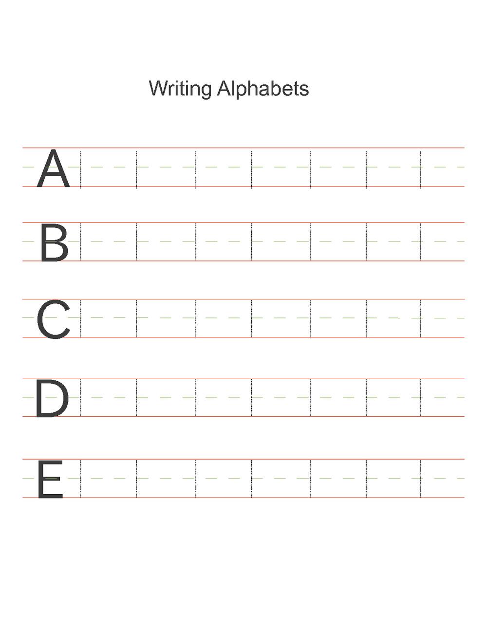 free alphabet worksheets practice