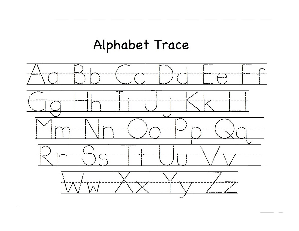 free alphabet worksheets trace