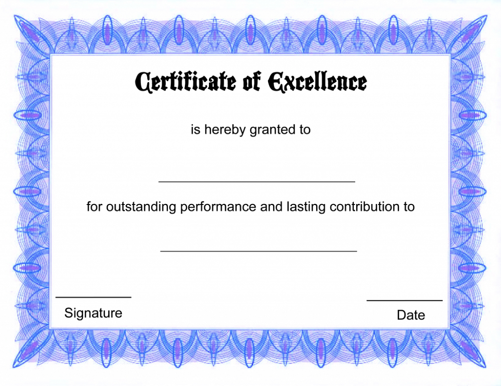 free certificate templates paper