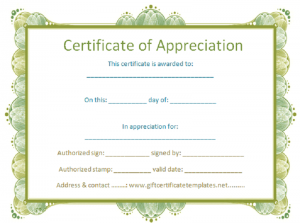 free certificate templates sample
