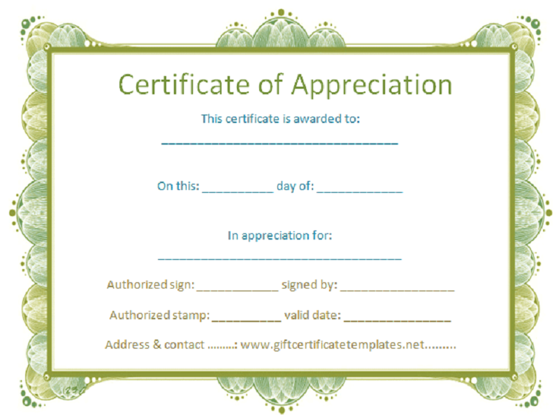 free certificate templates sample