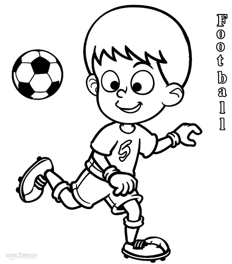 free football coloring pictures for kids