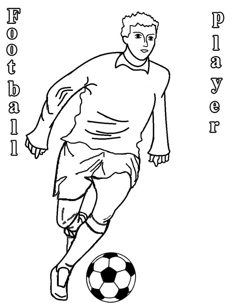 free football coloring pictures player