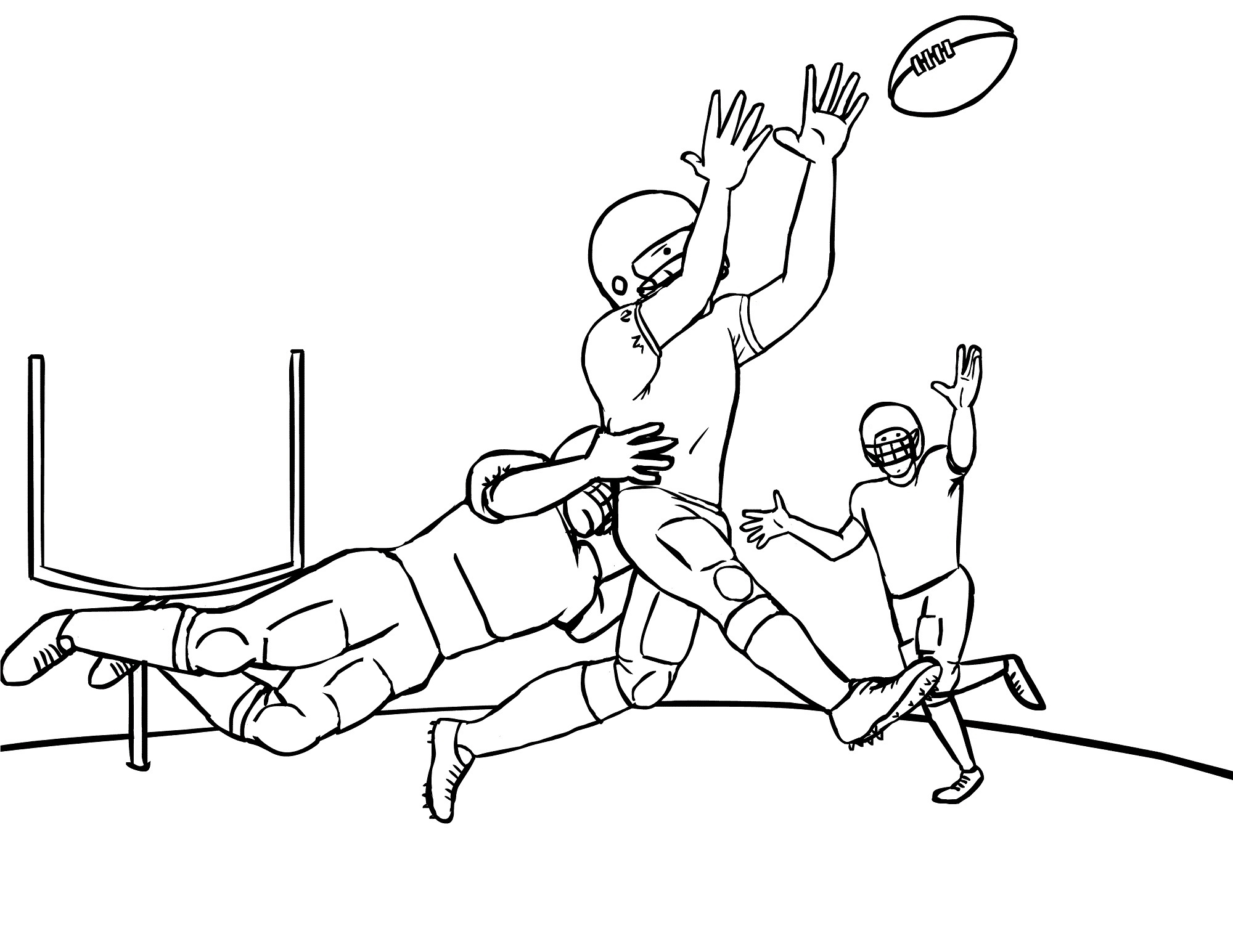 free football coloring pictures printable