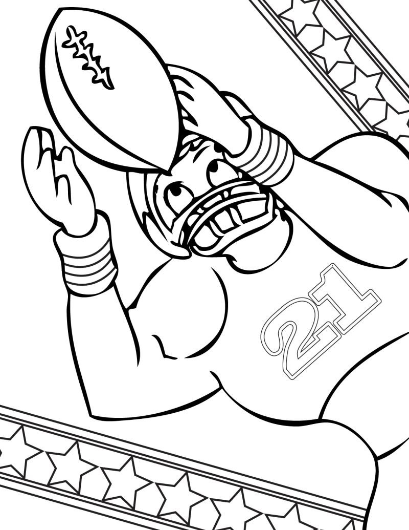 free football coloring pictures sheet