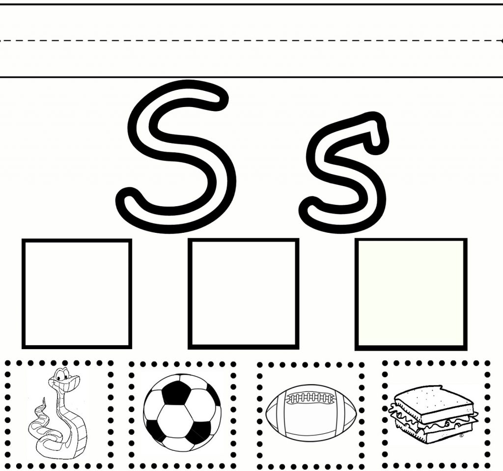 free printable worksheets for the letter S for kindergarten practice