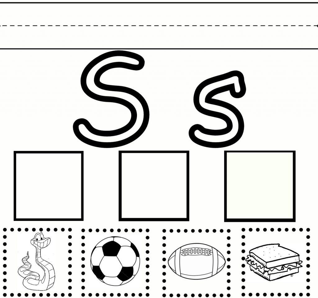 free printable worksheets for the letter S for kindergarten practice