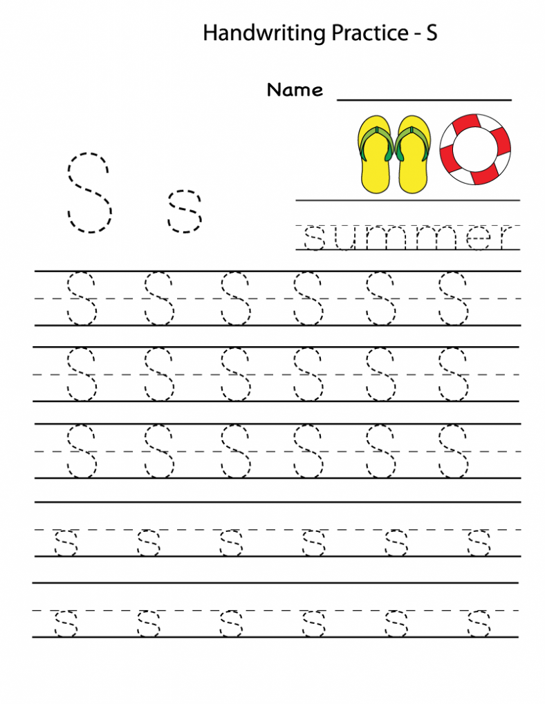 Free Printable Worksheets for the Letter S for Kindergarten – Letter a Printable Worksheets