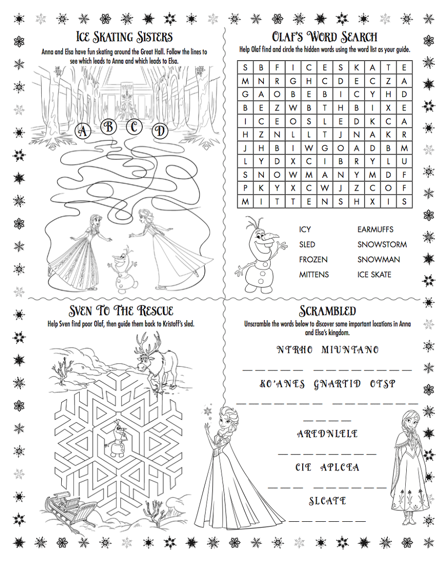Frozen Worksheets Printable | Learning Printable