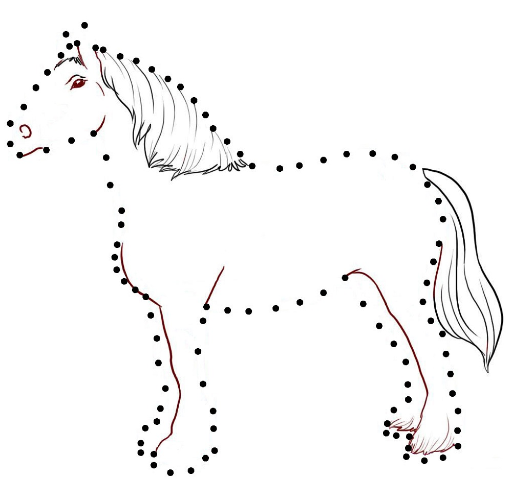 join the dots animal pictures horse