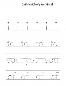 kid activity pages printables spelling