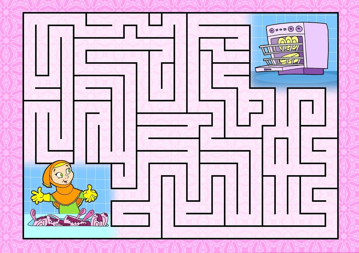 kid maze worksheets fun