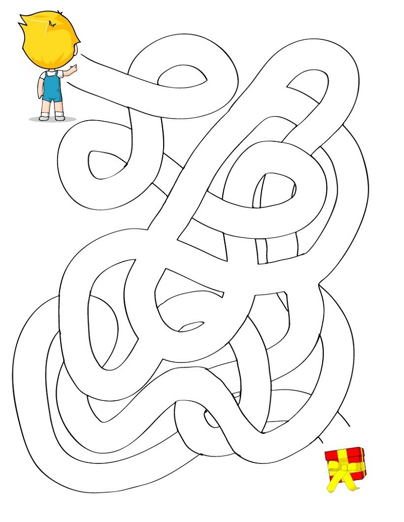 kid maze worksheets kindergarten