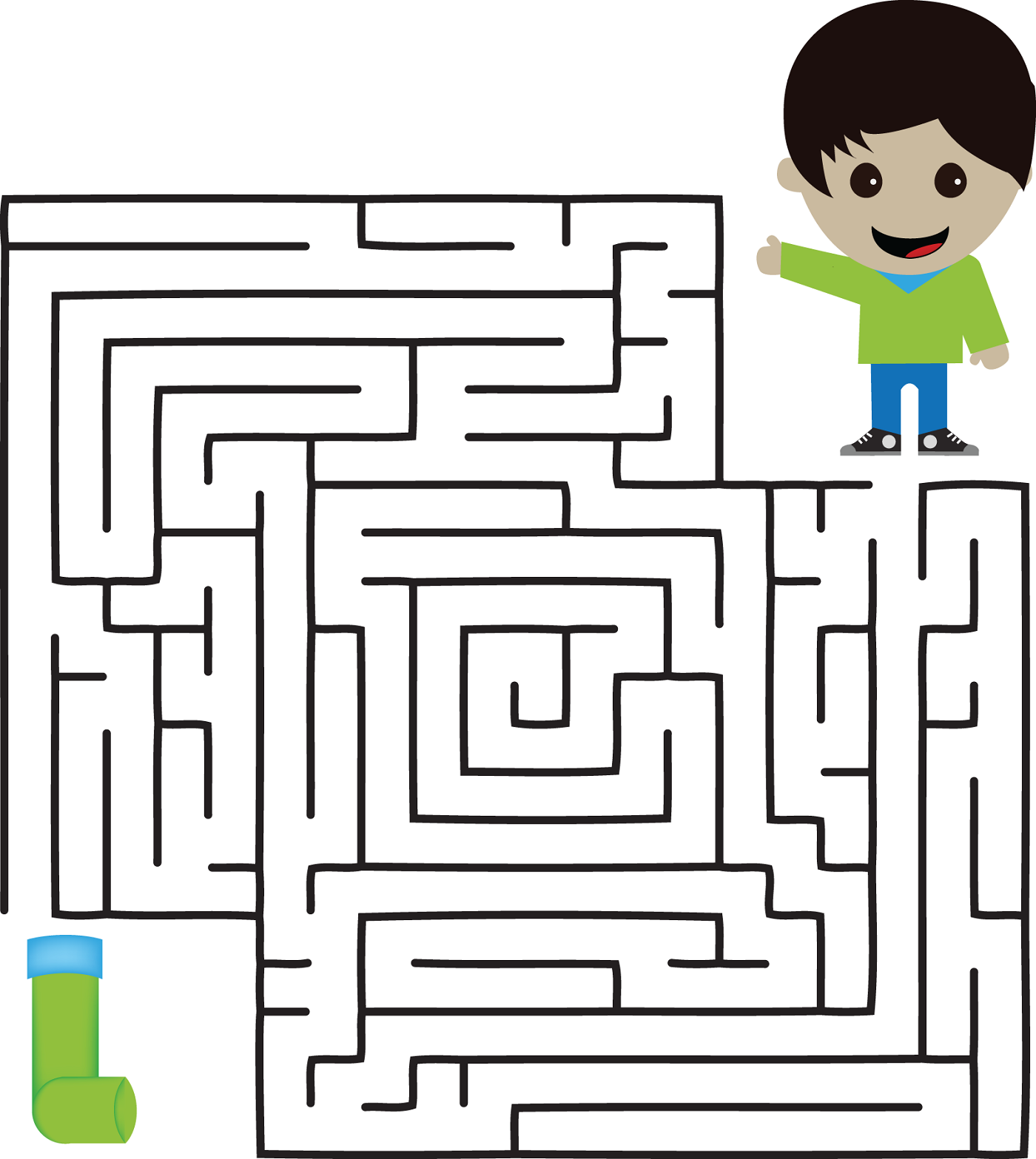 kid maze worksheets page