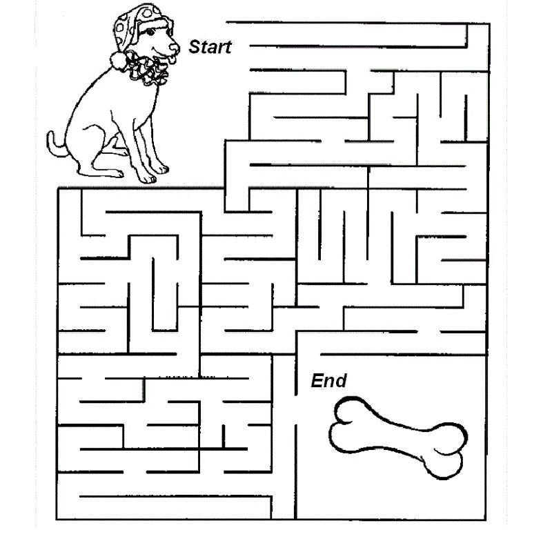 kid maze worksheets printable