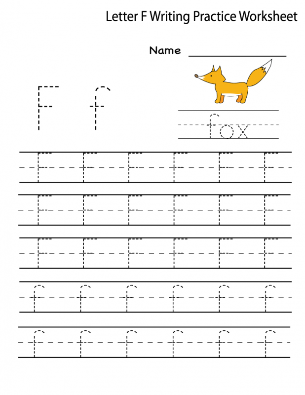 letter f tracing worksheets activity