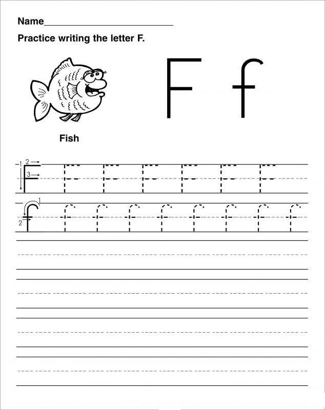 letter f tracing worksheets practice