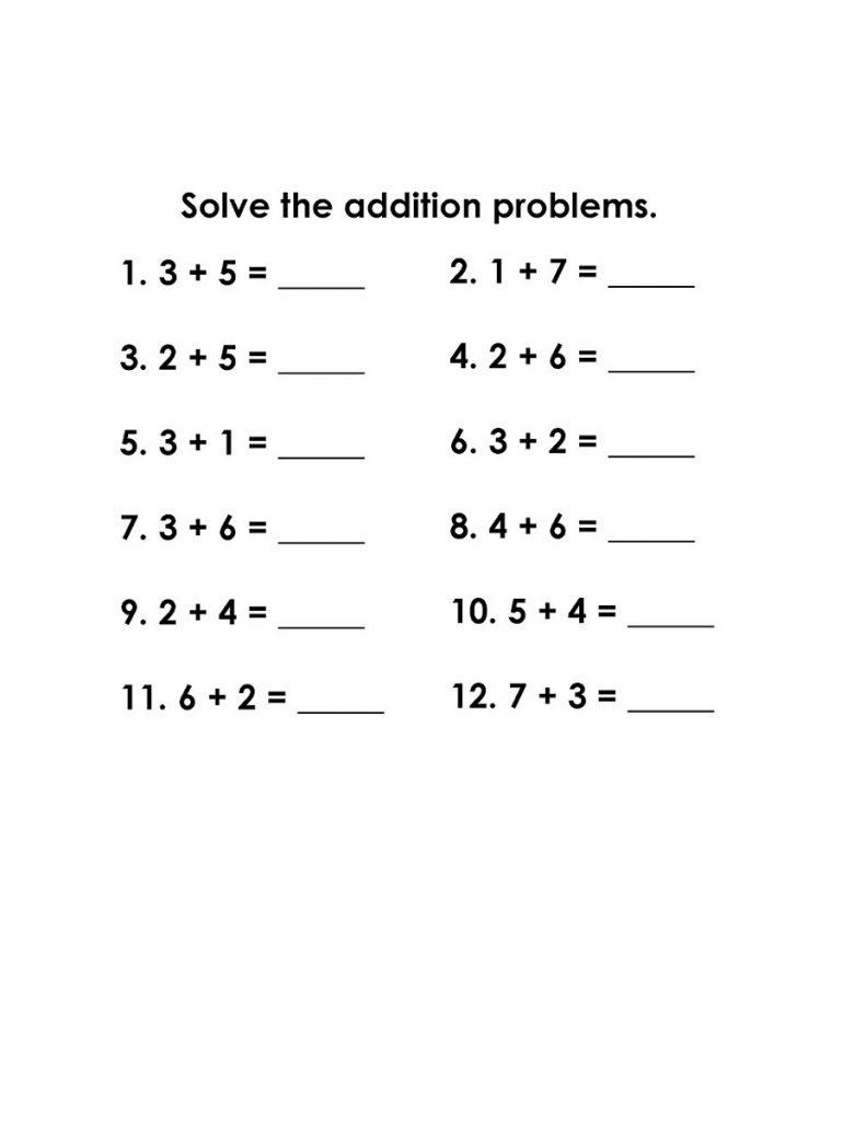math grade1 simple addition